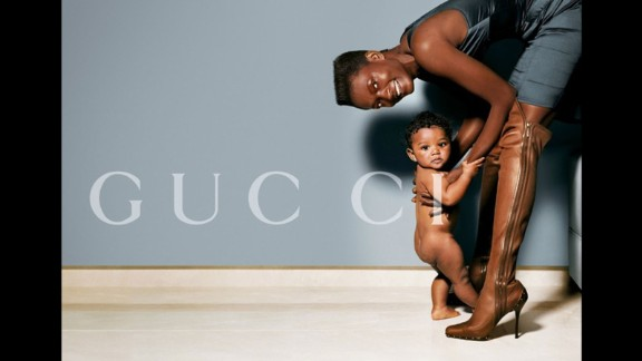 Mario Testino and Gucci celebrated diversity and family in this photo of Jamaican model Nadine Willis.