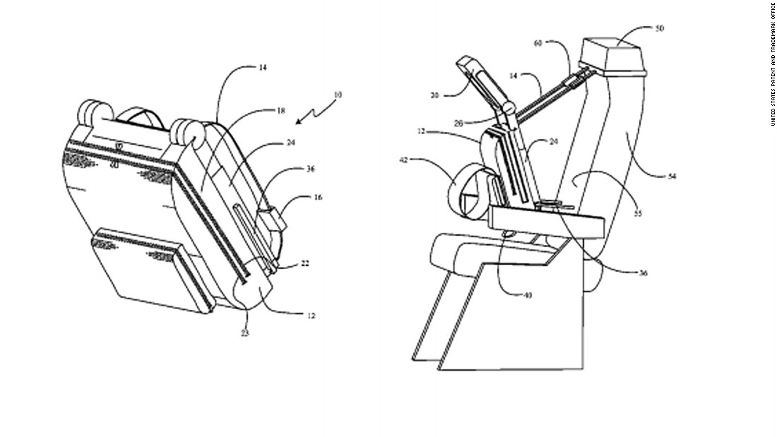 Airplane Seat Patents That Will Make You Gulp Cnn Travel