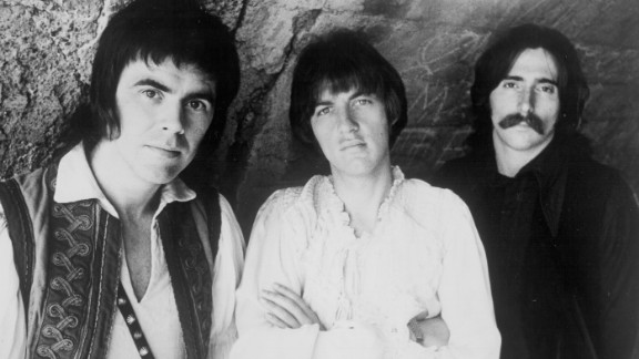 Cory Wells, center, was one of the three lead singers of Three Dog Night along with Danny Hutton, left, and Chuck Negron. Wells died October 20 at his home in Dunkirk, New York. He was 74.