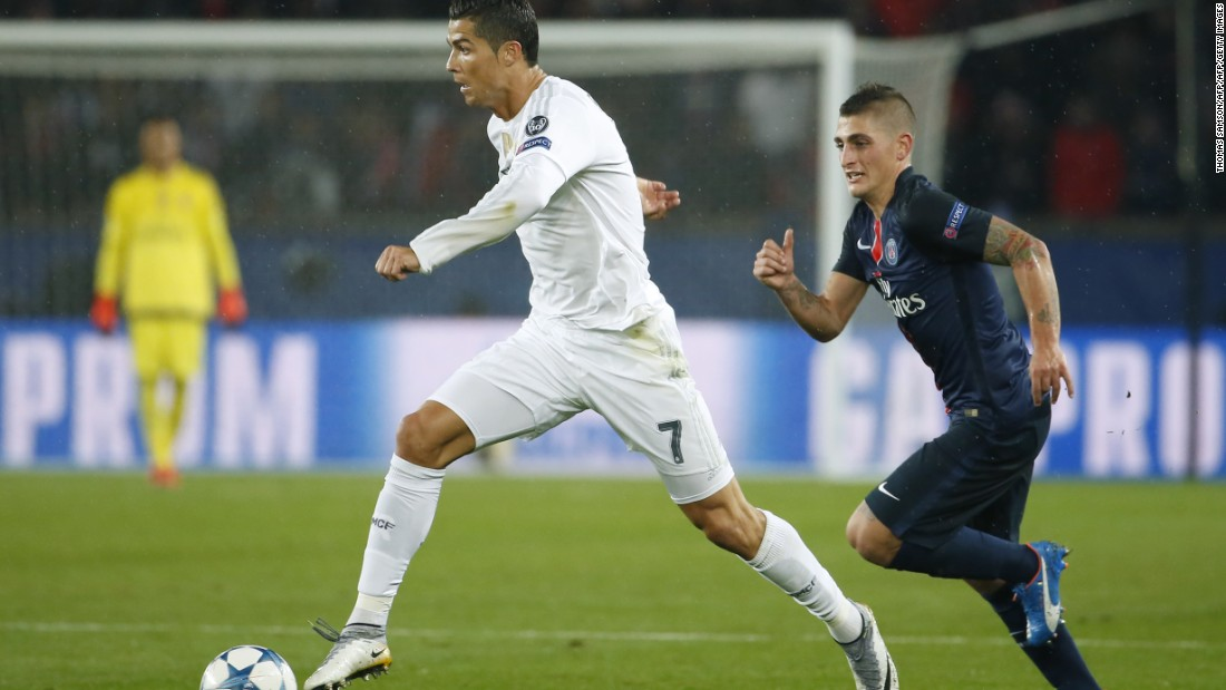 Cristiano Ronaldo endured a frustrating night as his Real Madrid side was held to a goalless draw at Paris Saint-Germain.