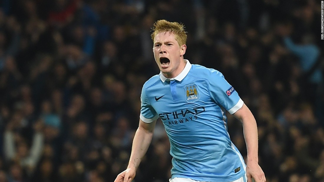 Manchester City came from behind to win 2-1 against Sevilla with Kevin de Bruyne scoring a last-gasp winner.