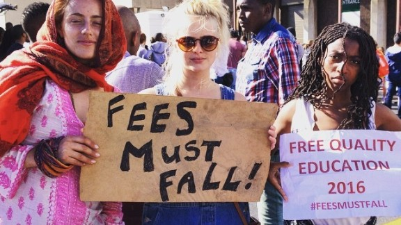 South Africa Student protest tuition fee hikes