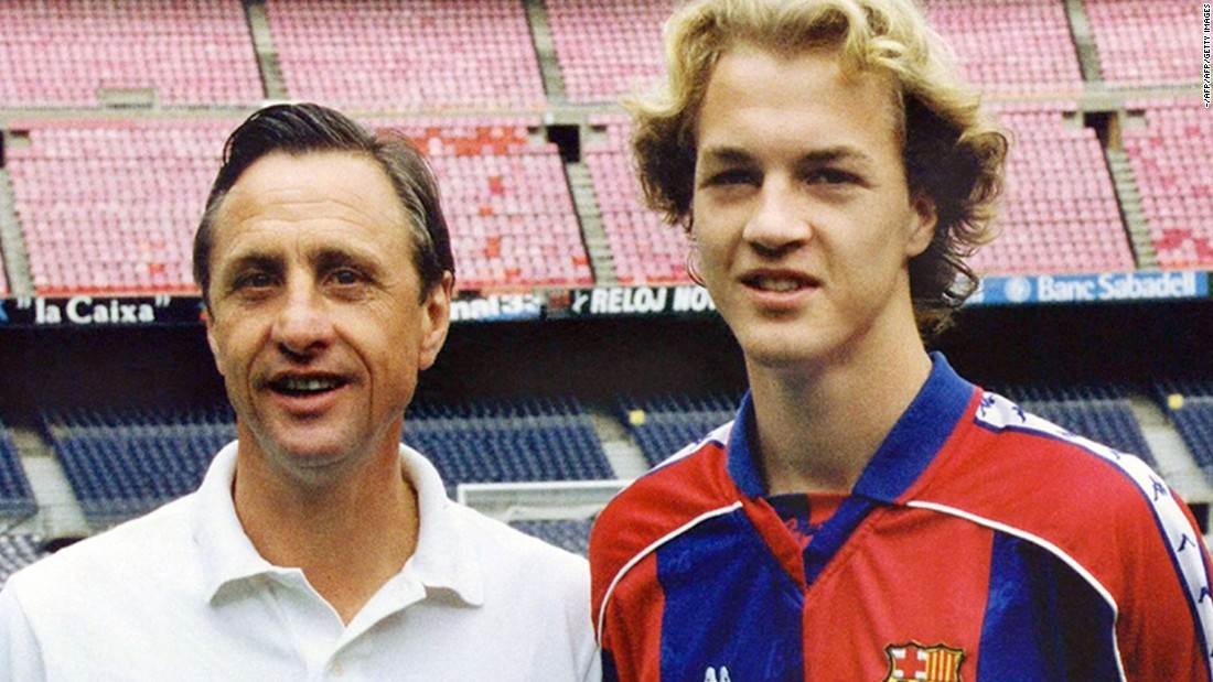 While in charge of Barcelona, Cruyff brought through his son Jordi into the team. Jordi went on to play for Netherlands and Manchester United.