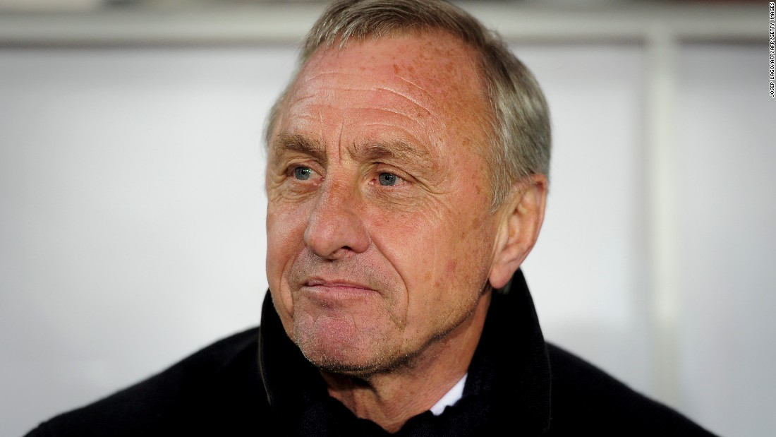Johan Cruyff, one of the finest footballers of all time and arguably Europe's greatest, was diagnosed with lung cancer in October 2015.