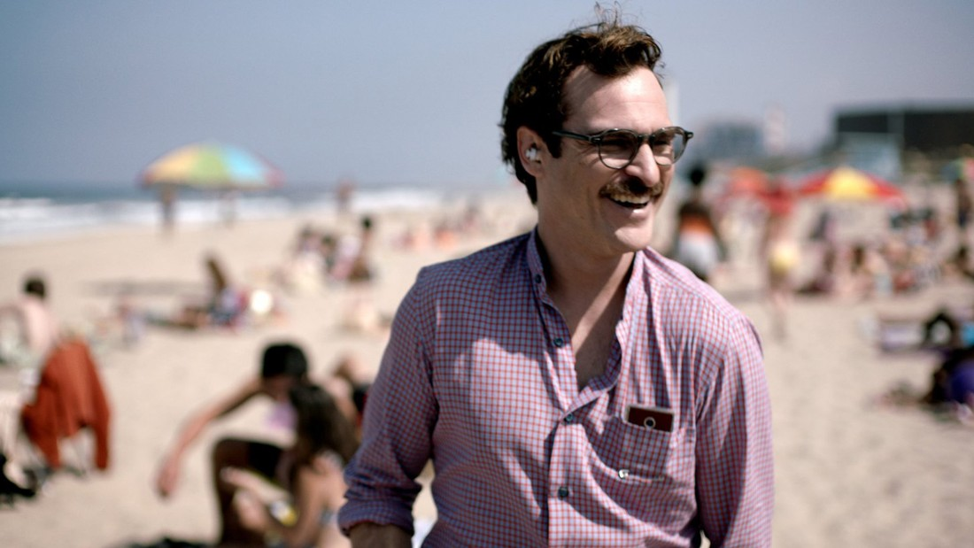 """Her,"" the 2013 film directed by Spike Jonze and starring Joaquin Phoenix, is set in an unspecified near future, probably sometime in the 2020s. The sights of the era look very similar to our own, except smartphone-like devices are more versatile, compact and ubiquitous, and people wear high-waisted pants. In the film, Phoenix falls in love with an operating system, with curious results."