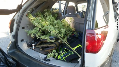 "Atlanta police officers arrested this car's driver after smelling a ""strong odor of marijuana."""