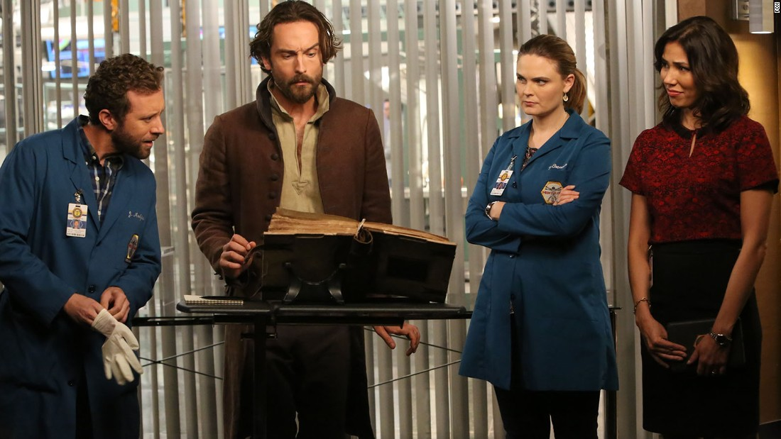 "Ichabod Crane meets Dr. ""Bones"" Brennan as the two Thursday night Fox series cross over in time for Halloween, Thursday night at 8 p.m."