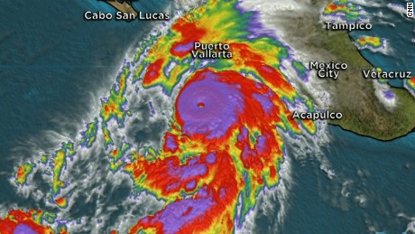 "With 200-mph sustained winds and even more powerful gusts, Hurricane Patricia was the strongest hurricane ever recorded by the U.S. National Hurricane Center as it bore down Friday on Mexico's Pacific coast. The Miami-based meteorological center, in its 8 a.m. advisory, warned of a ""potentially catastrophic landfall in southwestern Mexico"" later Friday. While its strength could fluctuate, ""Patricia is expected to remain an extremely dangerous Category 5 hurricane through landfall."" Patricia has potential to cause massive death and destruction to a large swath of the Mexican Pacific coast, including the tourist hot spots of Puerto Vallarta and Acapulco."