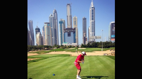 Perhaps one of the more distinctive backdrops on the list, the Emirates Golf club in Dubai provides something a little different to trees, seas or sunsets. Home to the Burj Khalifa, the world's tallest building, the impressive skyline is certainly an alternative location to play a round in front of. Thanks to @brian_will85 for sending this photo.