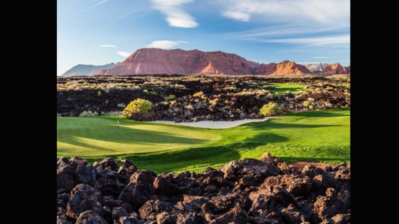 """This shot sent to us by @brianoar -- owner of @stgeorgeutahgolf and www.stgeorgeutahgolf.com -- is of Entrada at Snow Canyon. He has been a huge golf fan since the age of eight when he used to play with his Grandma. """"I fell in love with the look of morning and evening light and 'golden hours' on golf courses,"""" he says. """"They are living, breathing pieces of art."""""""