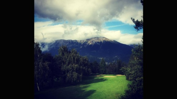 Not a country with a rich golf history, Slovenia, nevertheless, provides one of the more dramatic backdrops on our list. Overlooked by the highest point of the Slovenian Alps, and often just below the clouds, @dragobilic's submission is the only Slovenian course on Golf World Magazine's Top 100 European Golf Courses.