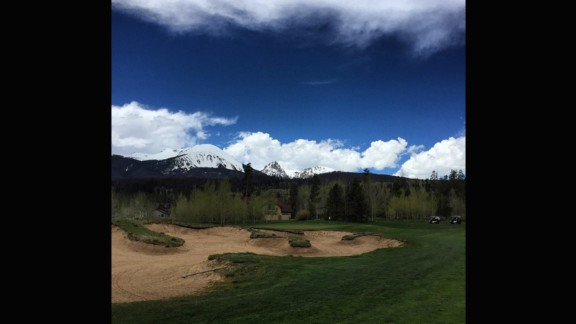"""Make sure you wrap up warm for this one. """"Safe to say golfing at almost two miles above sea level (around 9,000 feet) is one of the coolest experiences ever,"""" @drew_harvie said of the course."""