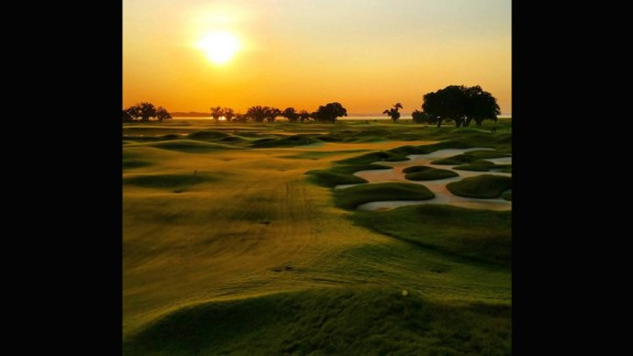 """""""The Pete Dye clubhouse is blessed with a magnificent sunrise,"""" the club says on its website. """"While the Jack Nicklaus Clubhouse enjoys stunning sunsets."""" Based on @jakew843's shot, they certainly have a point."""