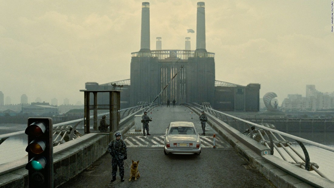 "The bleak ""Children of Men"" posits a world in 2027 in which humanity, unable to give birth, is dying out. Buildings have turned to rubble, and governments have collapsed, leading many migrants to the somewhat more secure British Isles. Technology is little changed from the present -- except for the commercials for suicide pills."