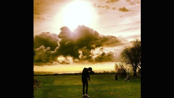 We begin our list in the United Kingdom. While the isles boast some of the most prestigious golf courses in the world -- St. Andrews, Turnberry and Carnoustie, to name just three -- there are often more modest locations that provide just as thrilling an experience. Oliver Graham (@olivergraham24) sent us this photo of him teeing off into the setting sun. Fitting, after all, as this area of England is the sunniest in the country.