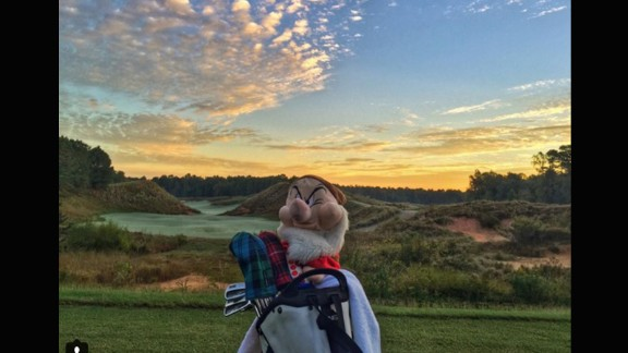 So good we had to pick it twice. The palette of colors visible in the sky makes this a worthy location for @wickedgolfer59 to play a round of dawn golf. Although somebody in the foreground clearly isn't too impressed.