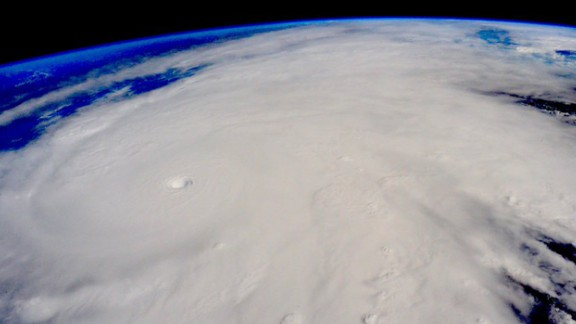 Hurricane Patricia approaches the Pacific coast of Mexico in this photo that astronaut Scott Kelly tweeted from the International Space Station on Friday, October 23. Patricia is the strongest hurricane ever recorded at sea, with sustained winds of 200 mph.