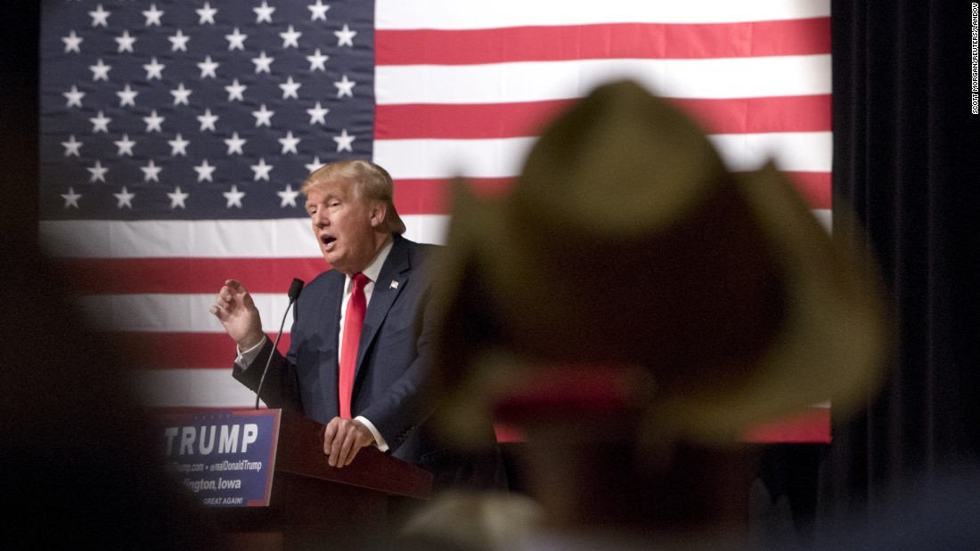 "Republican presidential candidate Donald Trump speaks during <a href=""http://www.cnn.com/2015/10/21/politics/donald-trump-iowa-rally/"" target=""_blank"">a campaign rally</a> in Burlington, Iowa, on Wednesday, October 21."