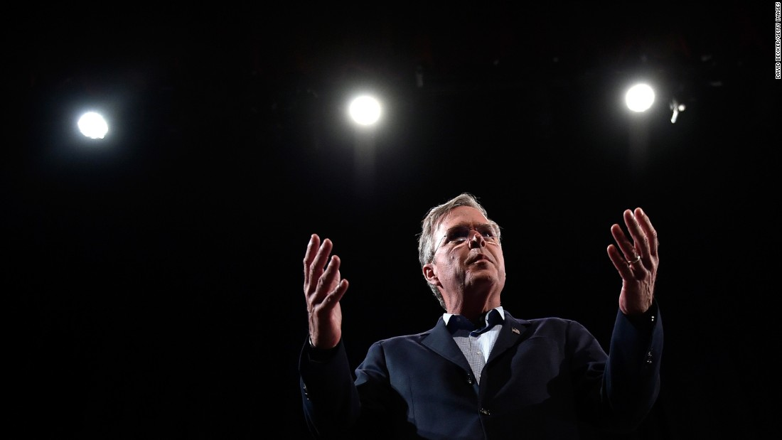 Republican presidential candidate Jeb Bush speaks at a forum in North Las Vegas, Nevada, on Wednesday, October 21.