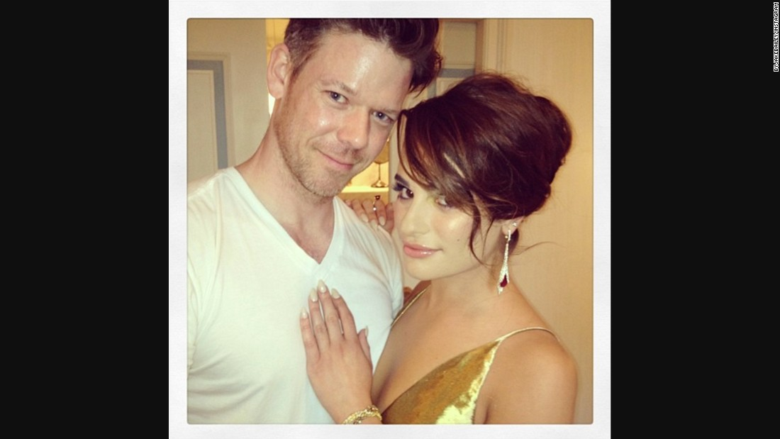 "Bailey posted <a href=""https://instagram.com/p/nof7xrvhkH/?taken-by=byjakebailey"" target=""_blank"">this photo on Instagram with actress and singer Lea Michele</a> after doing her makeup for the 2014 Met Ball."