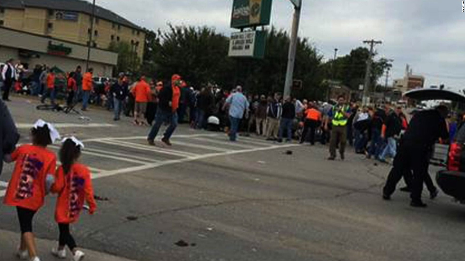 Video shows moment of Oklahoma State parade crash - CNN Video