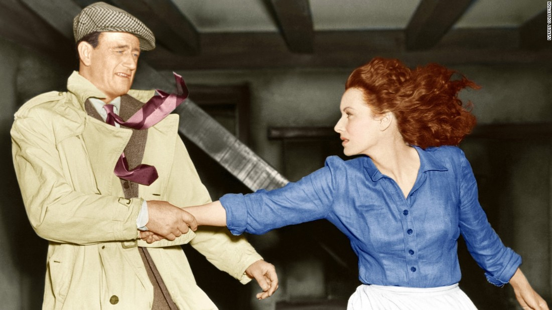 "John Wayne and Maureen O'Hara appear in 1952's ""The Quiet Man,"" directed by John Ford. It was the second time O'Hara and Wayne appeared on screen together."