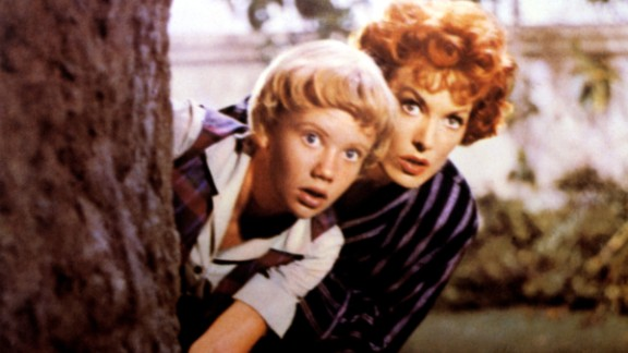 """O'Hara and Hayley Mills in 1961's """"The Parent Trap."""" O'Hara plays the foil to many pranks by Mills, who played twins in the Disney movie."""