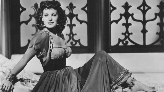 """Portrait of O'Hara in costume, as she appeared in the movie """"Bagdad,"""" in 1949."""