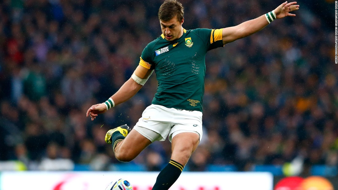 Handre Pollard of South Africa found his range with four successful kicks against the All Blacks as his team led 12-7 at the half.