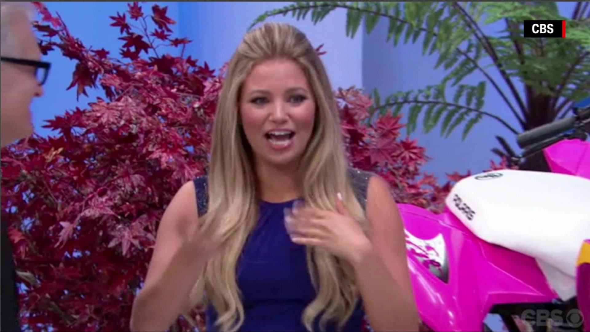 Amber Lancaster From The Price Is Right 'the price is right' model accidentally does this
