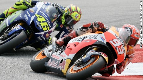 Malaysian MotoGP: Valentino Rossi penalized after Sepang clash