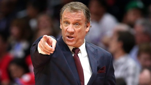 "Phil ""Flip"" Saunders, head coach of the NBA"