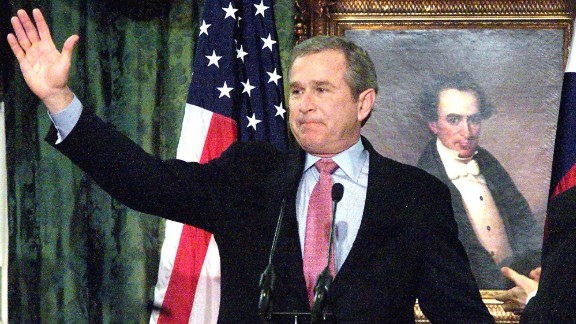 Then: George W. Bush served as governor of Texas until December 21, 2000. He of course went on to become the 43rd president of the United States. His presidency was soon put to the test after the terrorist attacks on September 11, 2001.