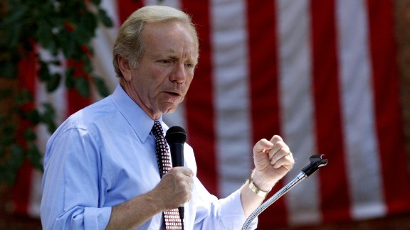 Then: Joe Lieberman, then a U.S. senator from Connecticut, was the Democratic candidate for vice president. He was the first Jewish candidate on a national ticket.