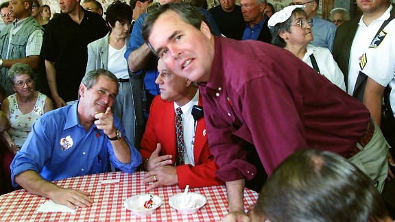 Then: Then governor of Florida and the brother of Republican candidate, George W. Bush, Jeb Bush had a pivotal role in the 2000 campaign. On election night, Florida