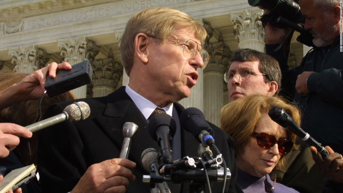 <strong>Then: </strong>Ted Olson represented Bush in the legal battle after the 2000 election.