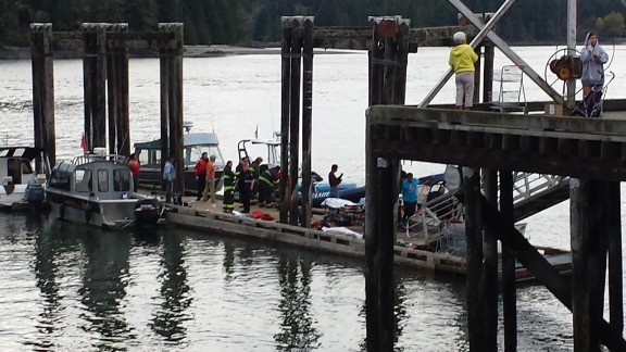 A tour boat carrying 27 people has sunk off the coast of Vancouver Island, in the Canadian province of British Columbia.