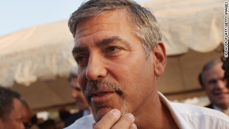 George Clooney in South Sudan in 2011.