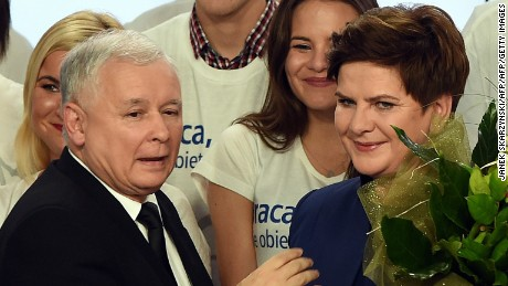 The PiS, led by Jaroslaw Kaczynski and his deputy, Beata Szydlo, appears to have won Sunday's election.