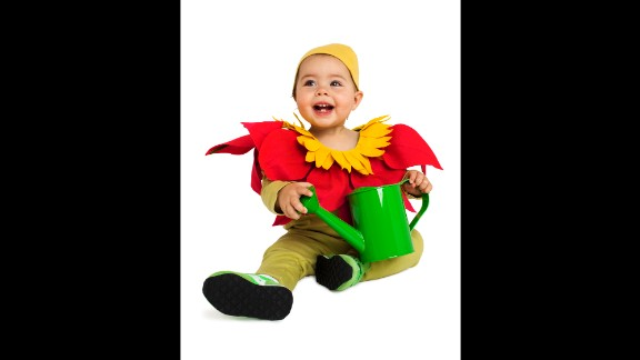 Real Simple came up with last-minute costume ideas for kids, like this easy flower getup. Read more ideas here.