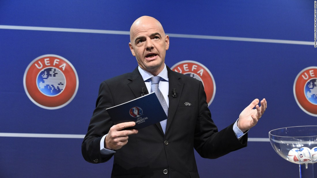 UEFA announced on the day of the deadline that its general secretary Gianni Infantino -- Platini's right-hand man -- will run for the FIFA presidency.