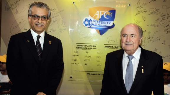Asian Football Confederation president Sheikh Salman bin Ibrahim Al-Khalifa launched his bid to become the next FIFA president 24 hours before the deadline.  Sheikh Salman has been criticized by human rights organizations after being accused of complicity in crimes against humanity. Sheikh Salman