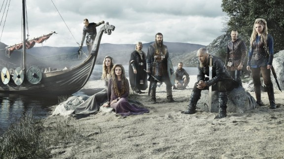 """<strong>""""Vikings"""" season 3</strong>: The life of the fictitious warlord Ragnar Lothbrok (Travis Fimmel, seated right) is the focus of the History Channel series.<strong> (Hulu, Amazon Prime)</strong>"""