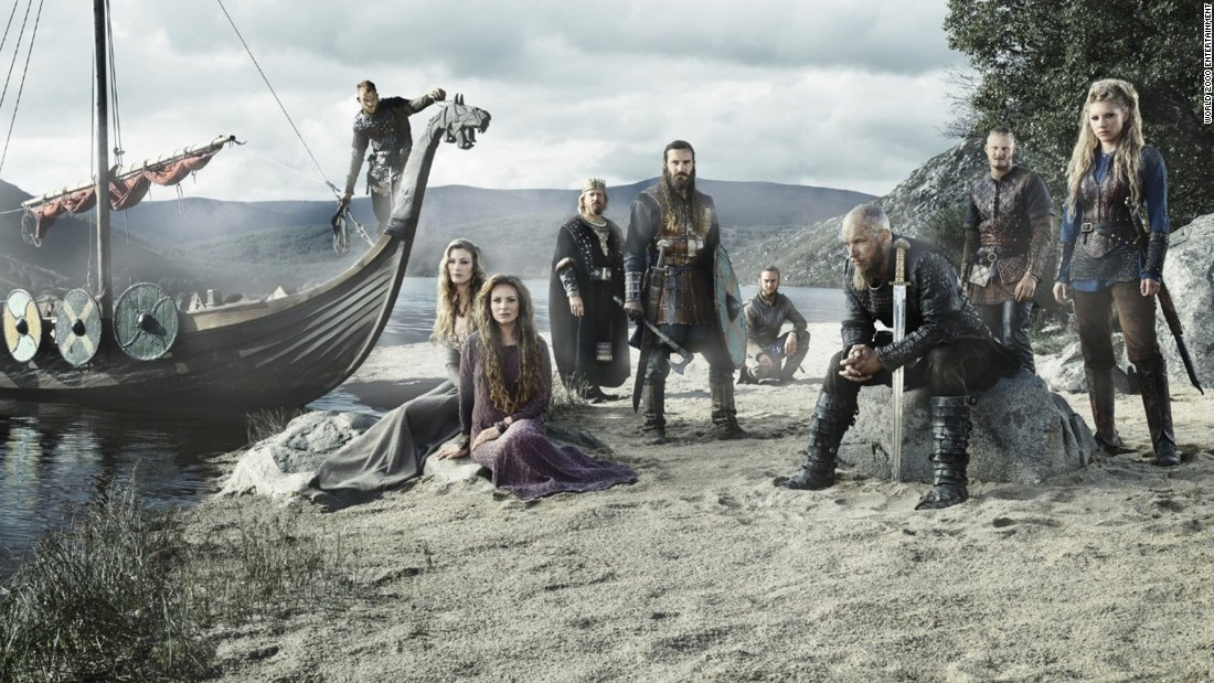 "<strong>""Vikings"" season 3</strong>: The life of the fictitious warlord Ragnar Lothbrok (Travis Fimmel, seated right) is the focus of the History Channel series.<strong> (Hulu, Amazon Prime)</strong>"