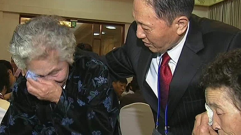 A  North and South Korean reunion ends in goodbyes
