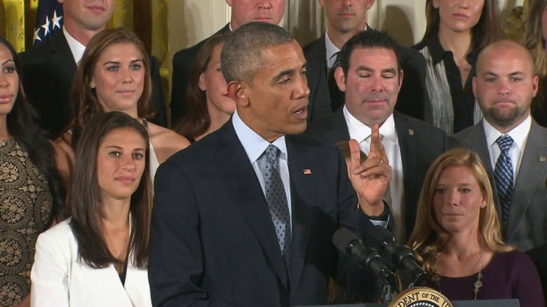 Obama: 'Playing like a girl means you're a badass'