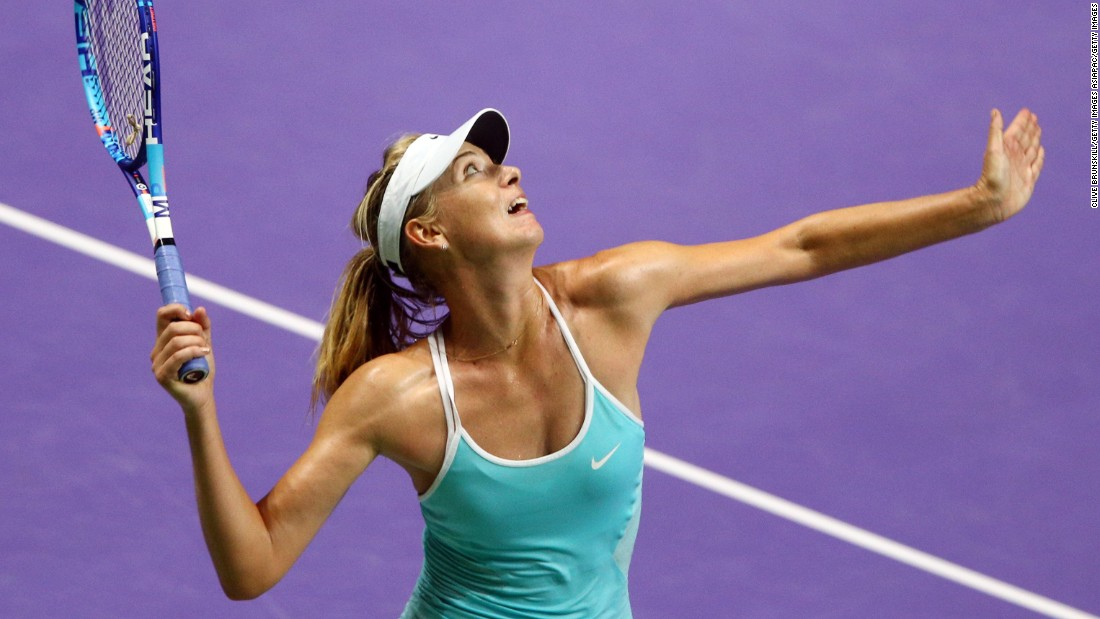 Sharapova triumphed against Radwanska on Sunday in her first completed match since the Wimbledon semifinals. The world No. 4 pulled out with an arm injury during her return in Wuhan last month.