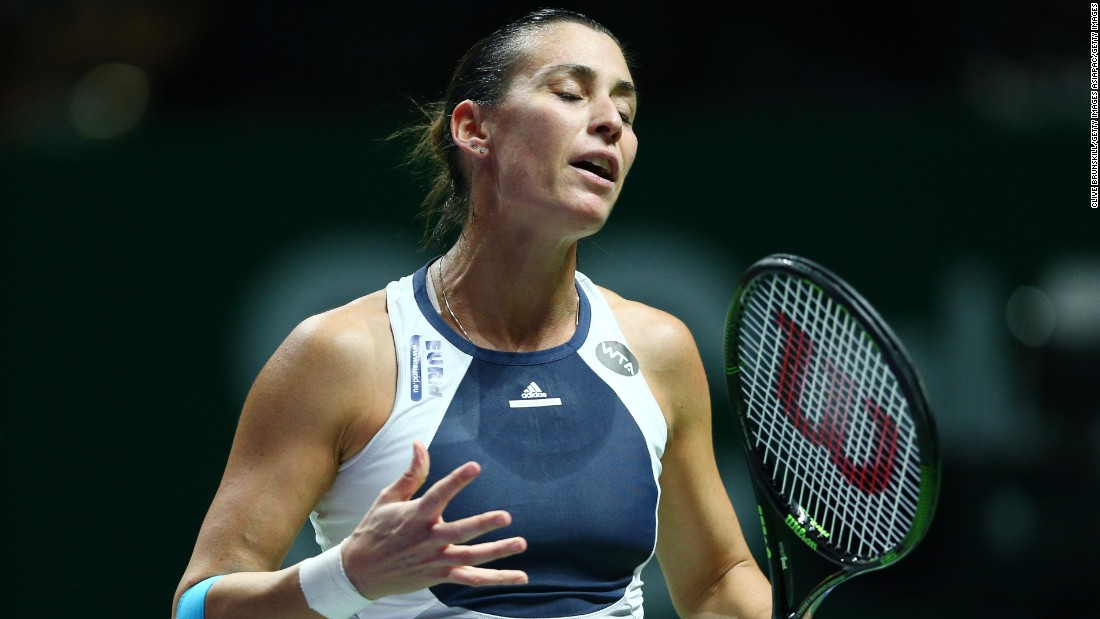 Pennetta, who will retire at the end of this season, was unable to regain the form that gave her a straight-sets victory over the 24-year-old in the U.S Open semis.