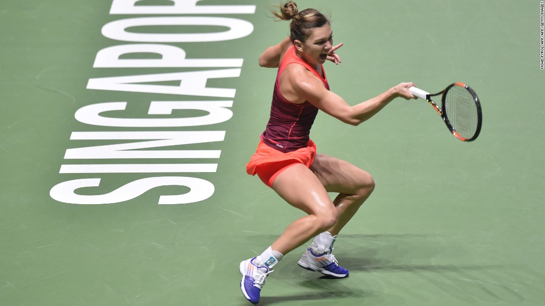 Halep could have qualified for the semifinals with victory, but the Romanian lost seven out of eight games from 4-4 in the opening set and the Russian held off her late fightback.