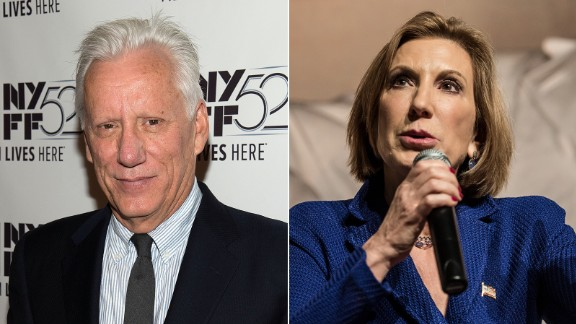 """Actor James Woods took to Twitter to say how much he admired Republican presidential candidate Carly Fiorina, saying he was """"proud to support this remarkable woman and her historic campaign."""" Fiorina suspended her candidacy in February."""